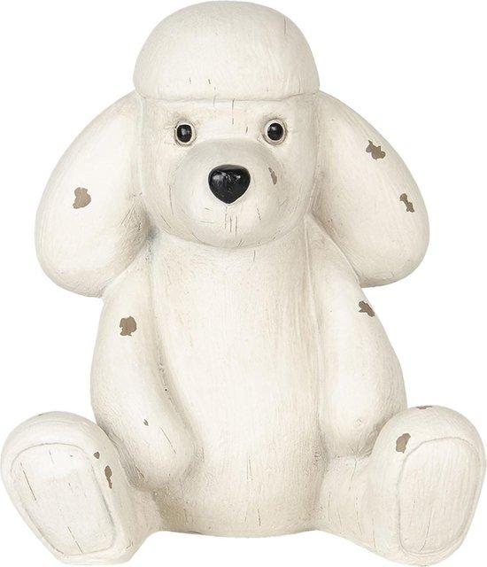 Clayre & Eef | Decoratie hond 14*12*16 cm | Wit | Polyresin | Hond | 6PR2929