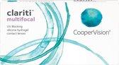 0,00 - clariti® multifocal - Laag - 6 pack - Maandlenzen - Multifocale contactlenzen