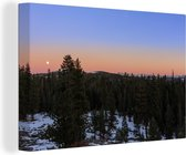 Mooie heldere lucht boven het Nationaal park Sequoia Canvas 120x80 cm - Foto print op Canvas schilderij (Wanddecoratie woonkamer / slaapkamer)