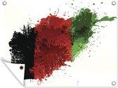 Illustratie van de vlag van Afghanistan 80x60 cm