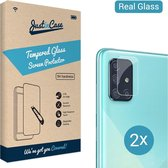 Just in Case Tempered Glass voor de Samsung Galaxy A71 Camera Lens 2 stuks