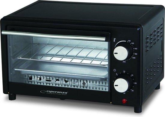 Esperanza EK004 CALZONE Mini Oven - Vrijstaand - 250°C - Zwart