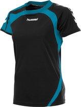 hummel Odense Shirt Ladies k.m. Sportshirt - Zwart - Maat L