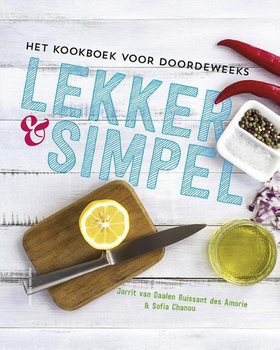 Boek cover Lekker en simpel van Jorrit van Daalen Buissant Des A (Hardcover)