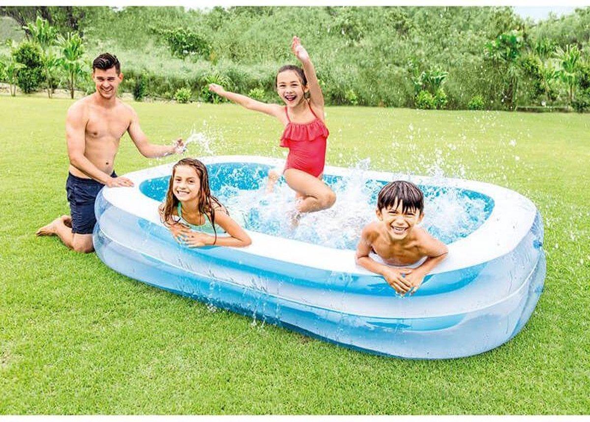 Opblaasbaar familie zwembad blauw