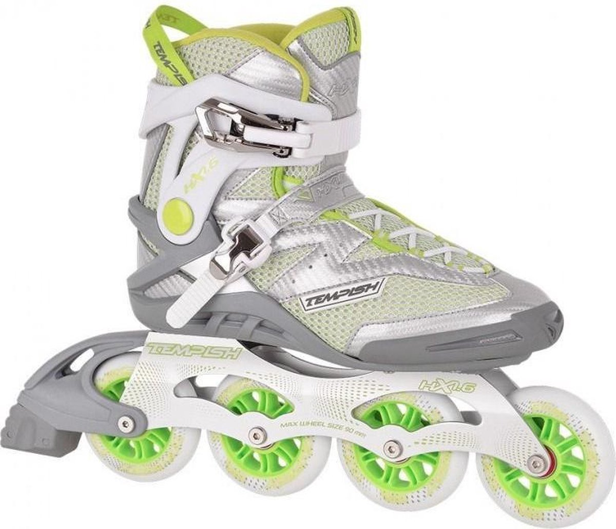 Skate - Tempish - HX 1.6 lady 90 silver-lime - dames - maat 38