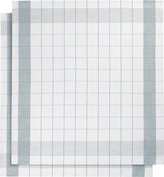 De Witte Lietaer keukenhanddoek - Theedoek - 68x68 cm - Set van 2 - White-Oxyde