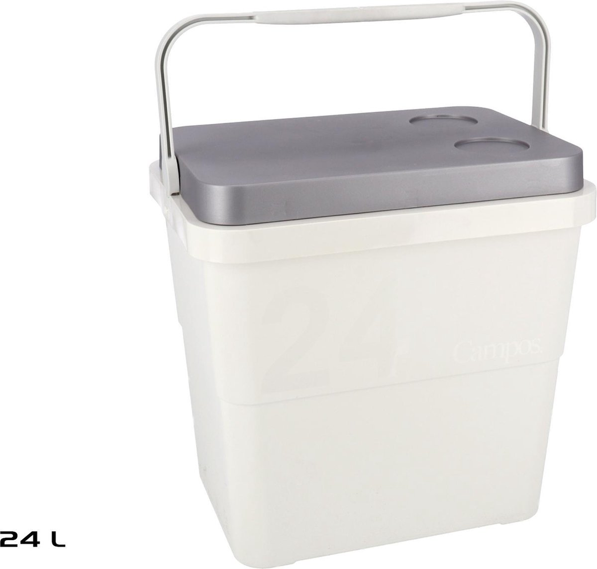 Koelbox - 39,5x29,5x108cm - 24L - Strandkoelbox - Grijs kopen