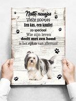 Wandbord hond: Shih Tzu - 30 x 42 cm