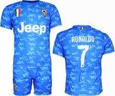 Juventus Replica Cristiano Ronaldo CR7 Alternatief 3e Tenue Camouflage Voetbal T-Shirt + Broek Set Blauw