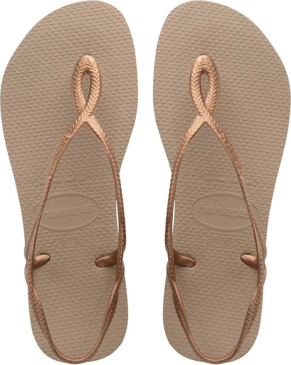 Havaianas Luna Dames Slippers - Rose Gold - Maat 39/40