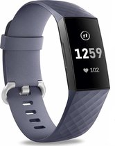 Fitbit Charge 3 silicone band - grijsblauw - Afmetingen: Maat S