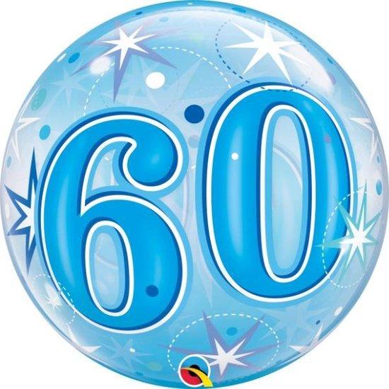 Bubble Sparkle Blue 60 jaar