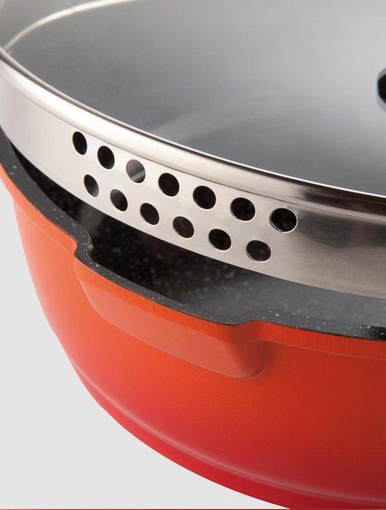 Berghoff Virgo hapjespan met deksel 24 cm oranje