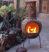 Sol-y-Yo Chimenea Mexicaanse Tuinhaard - 105 cm - Rood - Met zon