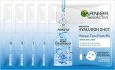 Garnier - SkinActive Fresh-Mix Hyaluronzuur masker - 5 Stuks - Intense Hydratatie - Voordeelverpakking