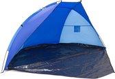 relaxdays - strandtent afsluitbaar - uv-bescherming - windscherm - vakantie Donkerblauw-Blauw