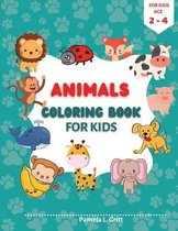Animals Coloring Book for Kids Age 2-4