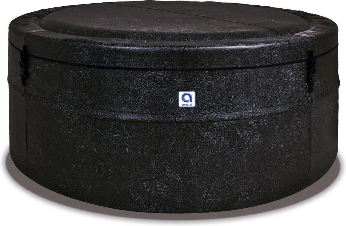 Avenli Osaka Leather spa ø156x70cm - zwart