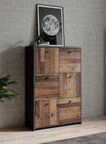 Meubella - Dressoir Sahara 5 - Old wood - Grijs - 77 cm