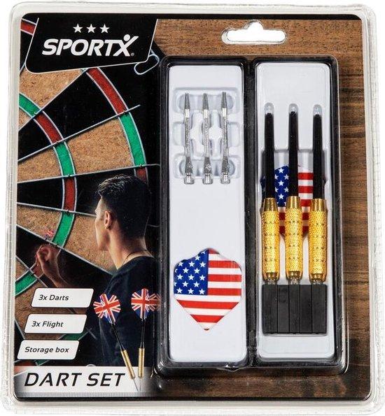 Thumbnail van een extra afbeelding van het spel SportX Dart Set in Opbergbox - Speelgoed - Sport en Spel