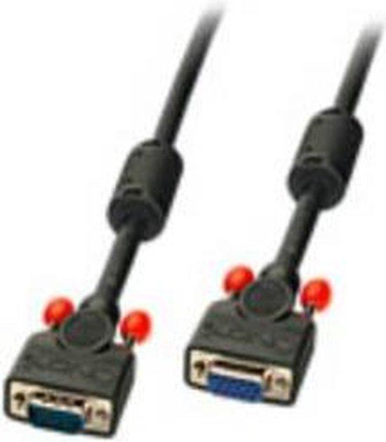 LINDY 36396 VGA Cable extension [1x VGA plug - 1x VGA socket] Black 7.50 m
