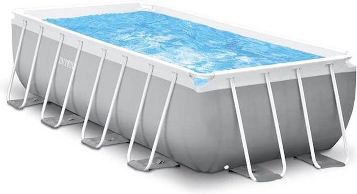 Intex Prism Frame Pool - Zwembad 488 x 244 x 107cm - met pomp en accessoires