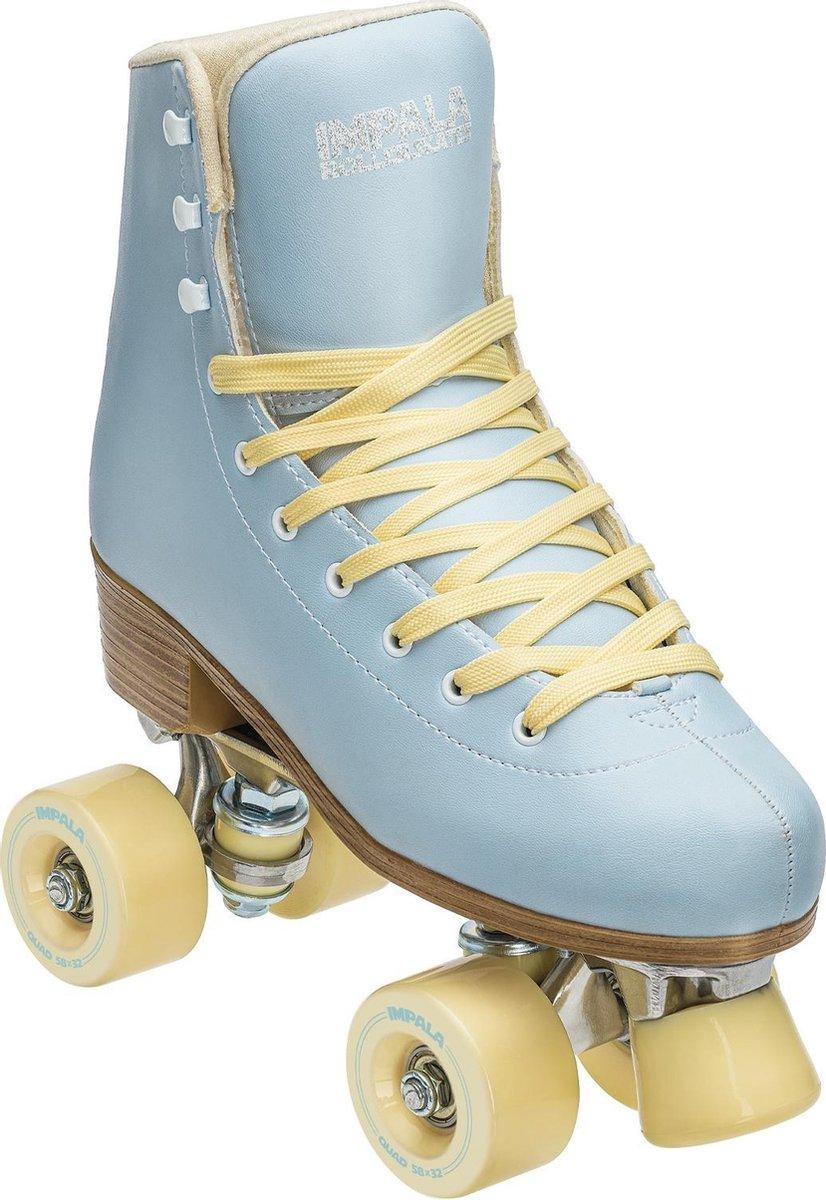 Impala Rolschaatsen - Maat 40Volwassenen - Licht blauw/geel
