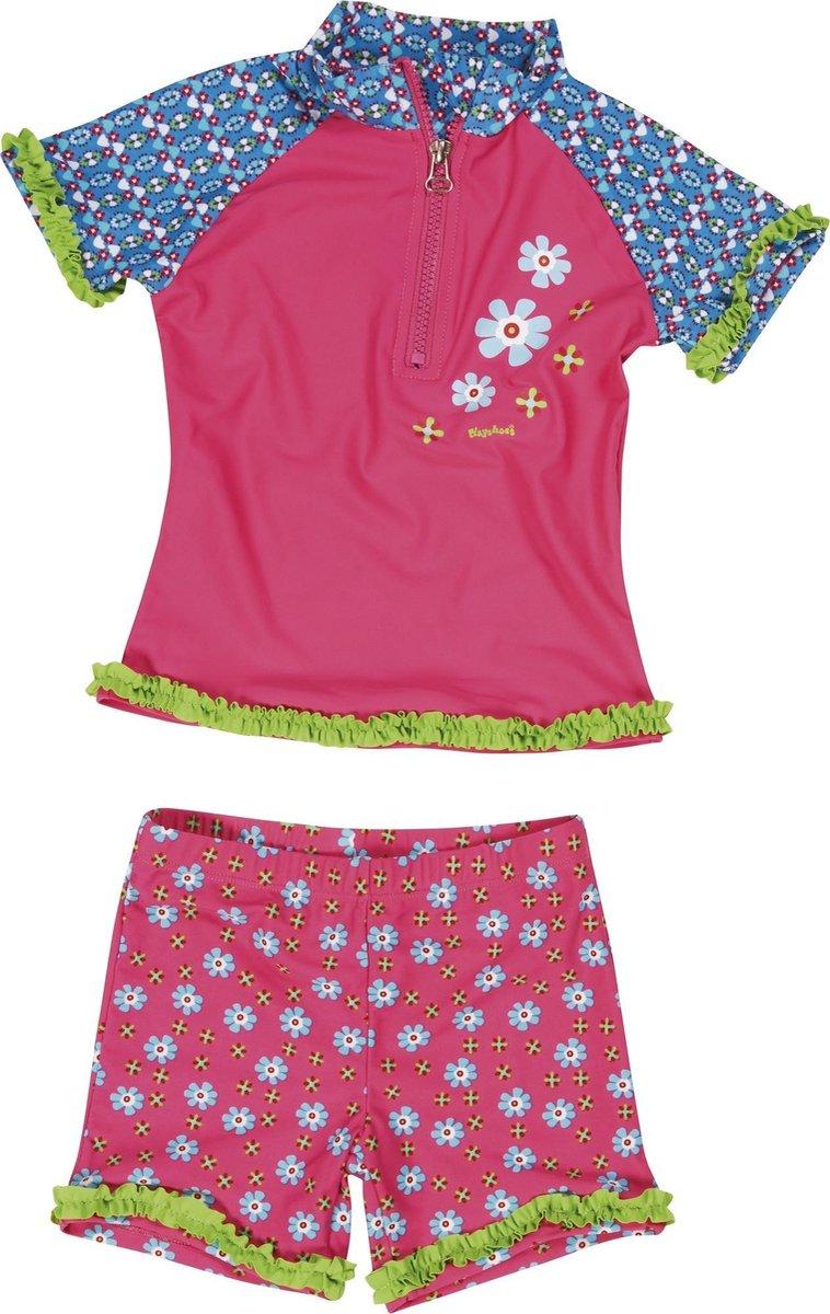 Playshoes UV-zwemsetje Kinderen Bloem - Roze - maat 98/104