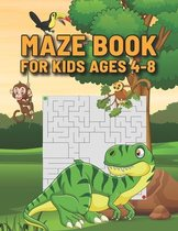 Maze Book For Kids Ages 4-8
