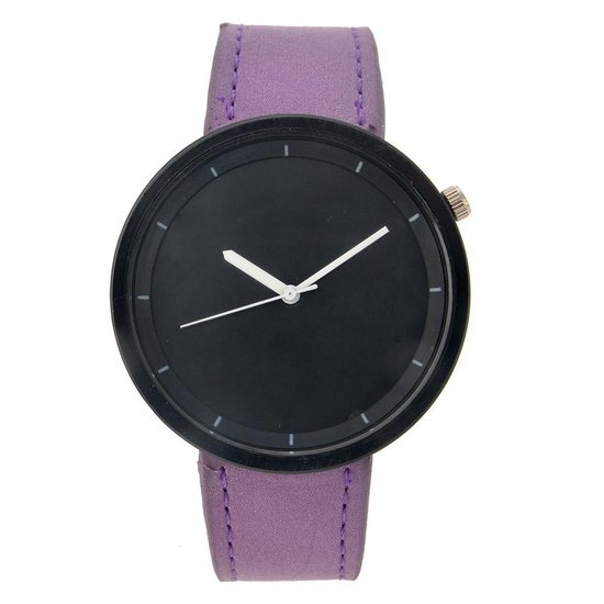 Melady Horloge voor Vrouwen MLWCH0069PA – Paars Kunststof Horloge DamesHorloge Meisjes