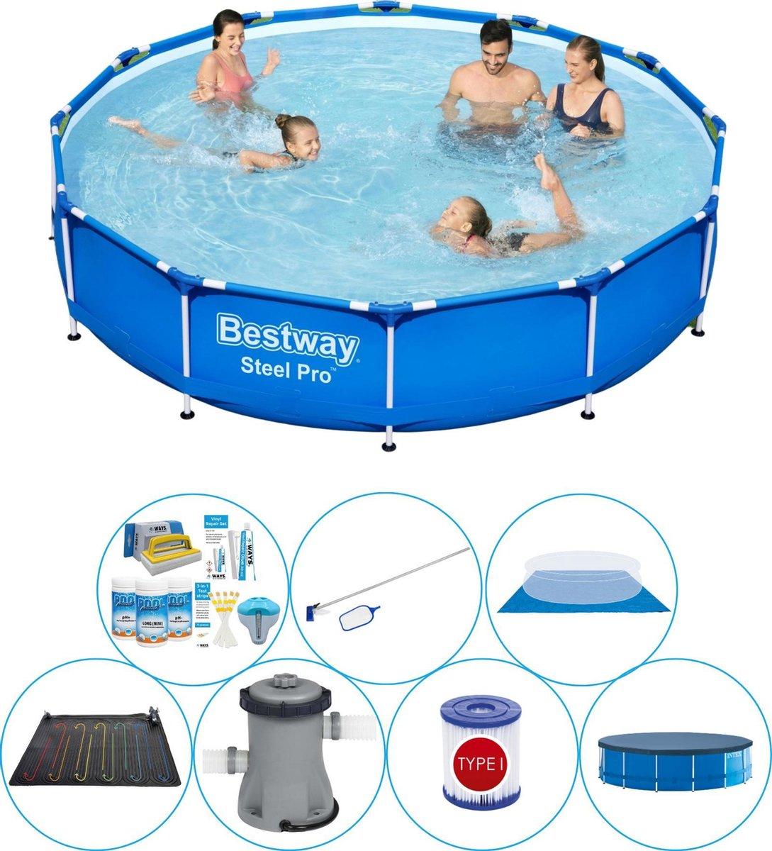 Zwembad Met Accessoires - Bestway Steel Pro Rond 366x76 cm