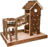 Trixie speelplaats birger hamster schorshout 33x26x33 cm - Bruin
