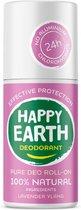Happy Earth Pure Deodorant Roll-On Lavender Ylang 75 ml - 100% natuurlijk
