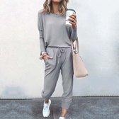 Huispak dames / Homewear/ Loungewear, vrijetijdspak. Hamptons grijs