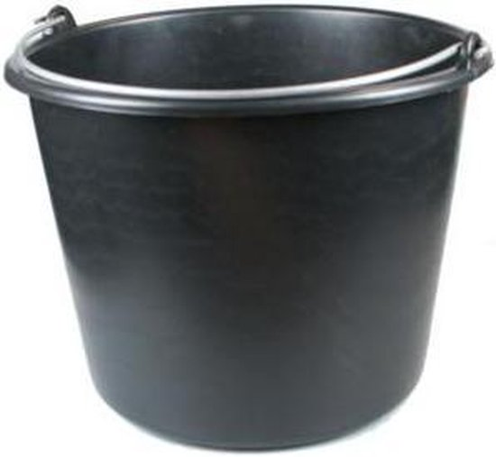 ES Bouwemmer 12 Liter Zwart