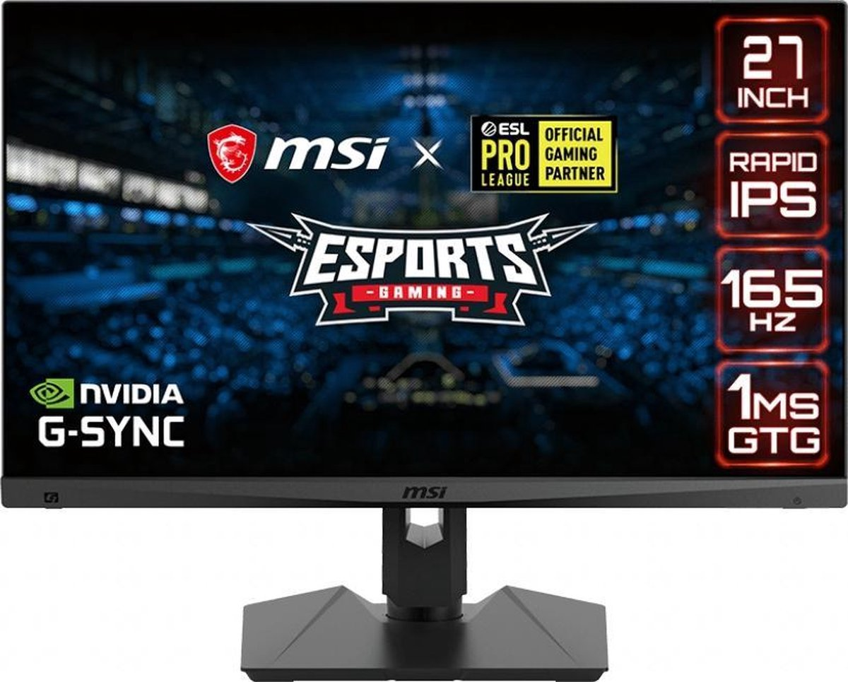 MSI Optix MAG274QRF-QD – QHD Rapid IPS E-Sports Gaming Monitor – Quantum Dot – USB-C – 165hz – 27 inch