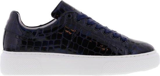 Tango | Alex 4-d navy patent sneaker – white sole | Maat: 39