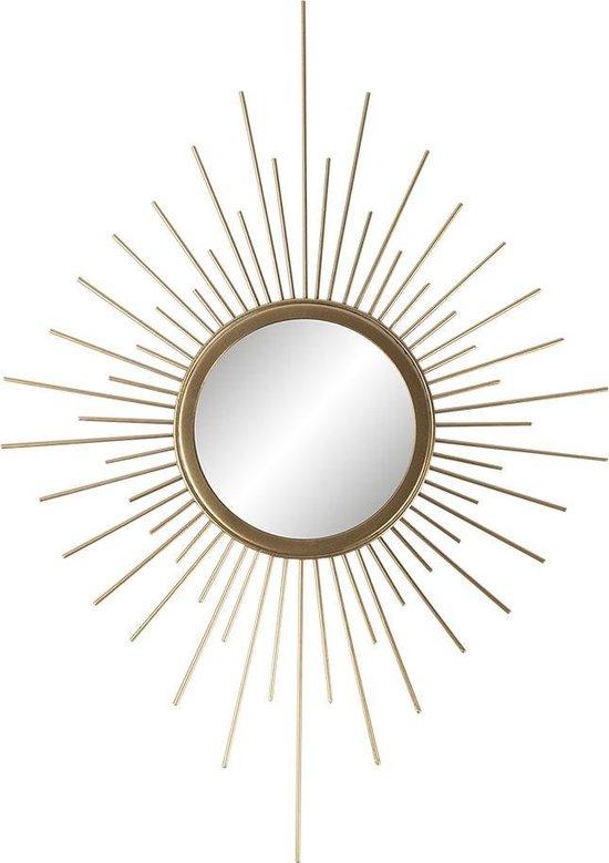Clayre & Eef Decoratie 35*1*50 cm Goudkleurig Ijzer / glas Decoratief Figuur Decoratieve Accessoires Woonaccessoires Decoratief FiguurDecoratieve AccessoiresWoonaccessoires