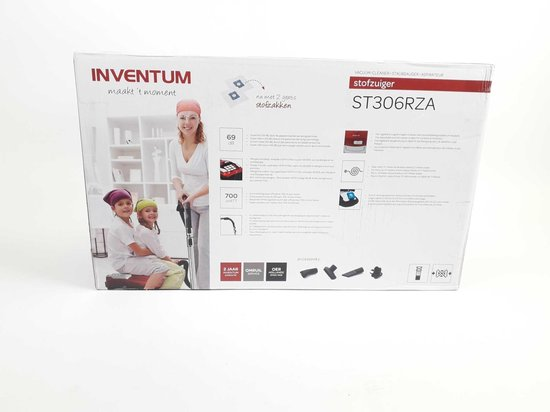 Inventum ST306RZA - Stofzuiger met zak - Rood