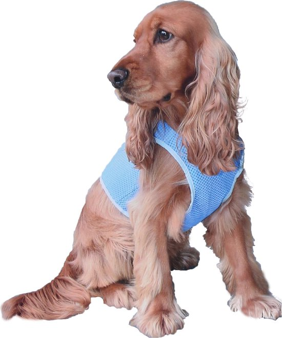 Honden Koelvest - Cool vest - PVA - blauw - Maat:XS - Ø 32 cm