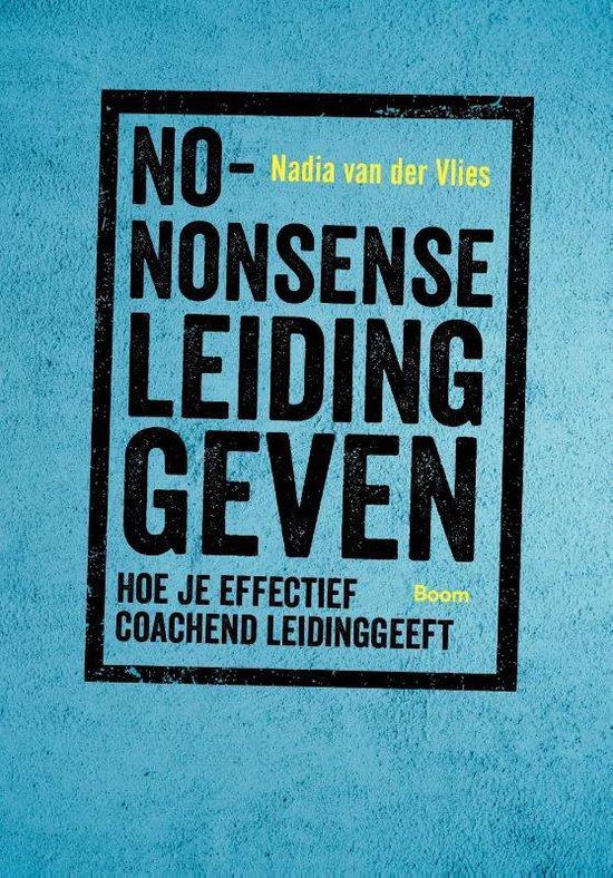 Boek cover No-nonsense leidinggeven van Nadia van der Vlies (Paperback)