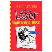 Boek cover Het leven van een Loser 11 -   Drie keer niks van Jeff Kinney (Hardcover)