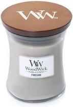 Woodwick Hourglass Medium Geurkaars - Fireside