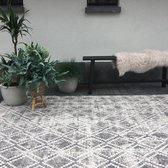 Buiten vloerkleed Frost - Grijs/Wit - dubbelzijdig - EVA Interior - 200 x 290 cm (L) - Polypropyleen - 200 x 290 cm - (L)