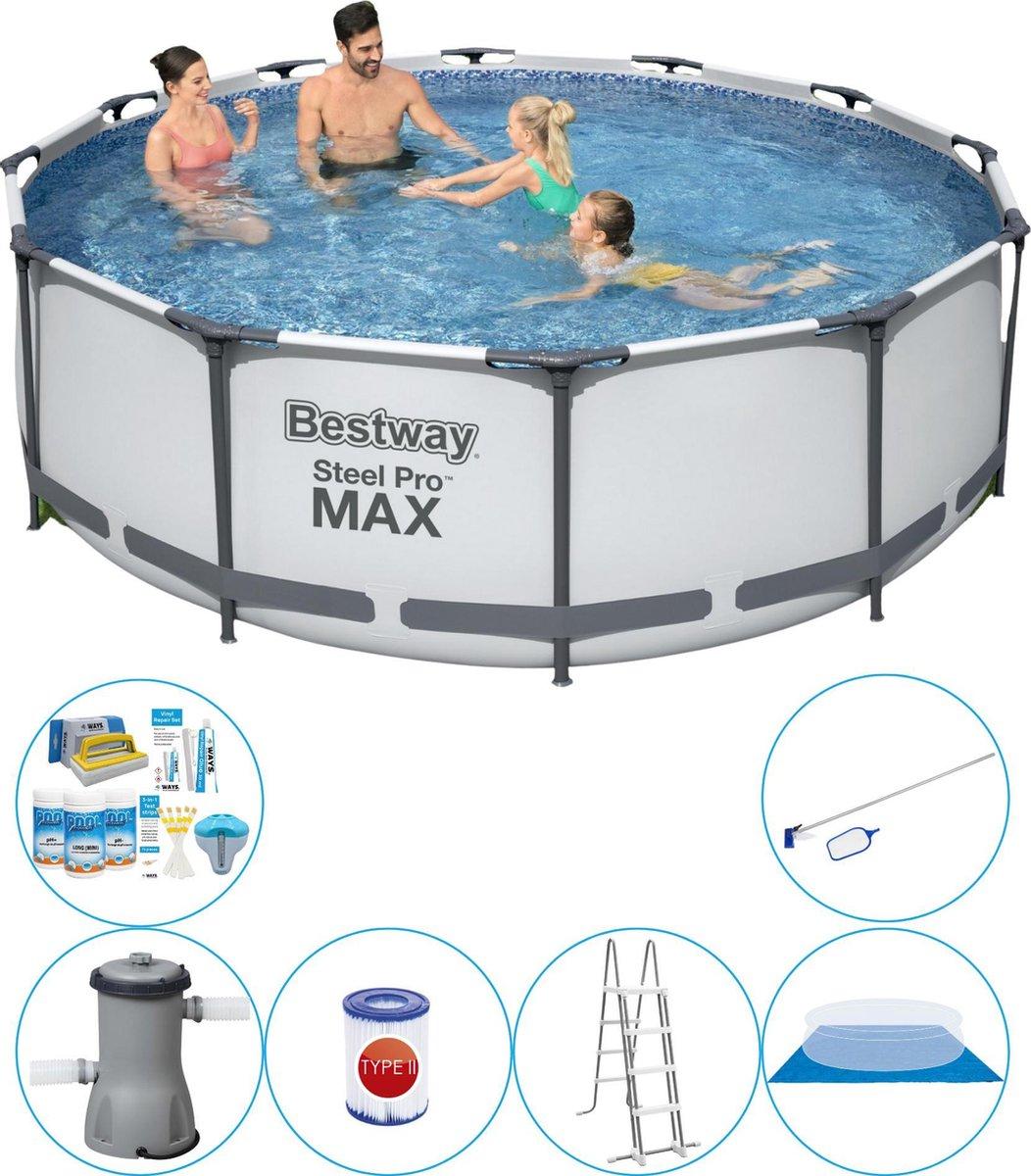 Bestway Steel Pro MAX Rond 366x100 cm - 7-delig - Zwembad Pakket