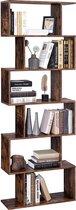 Vasagle boekenkastplank / displayplank / vrijstaande kast - decoratieve plank, 6 niveaus-Boekenrek - Boekenkast