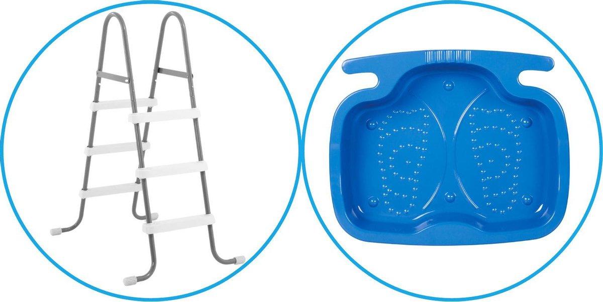 Zwembad Accessoirepakket 2-delig - Zwembadtrap & Voetenbad