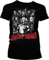 DC Comics Suicide Squad Dames Tshirt -XXL- Suicide Squad Zwart
