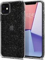 Spigen - iPhone 11 Hoesje - Back Case Liquid Crystal Glitter Transparant